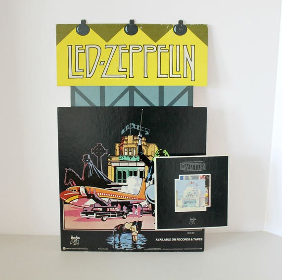 Vintage Led Zeppelin 1976 Song Remains The Same 3D Record Store Display, Rare 3-D Movie Soundtrack Advertisement