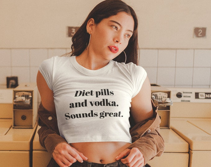 Featured listing image: RHONY Real Housewives of New York City - Diet Pills and Vodka. Sounds Great. - Sonja Crop Top