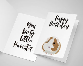 Jersey Shore Inspired - Happy Birthday - Card - Happy Birthday You Dirty Little Hamster