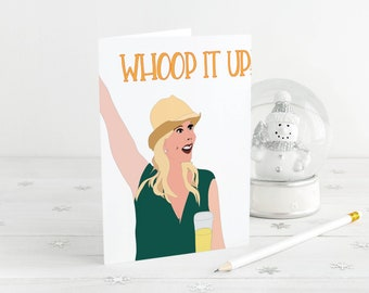 RHOC - Real Housewives of Orange County WOOHOO - Vicki - Birthday Card- Funny - Congratulations - celebrate - custom Real Housewives Cards