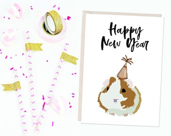 Jersey Shore Inspired - New Year's - Card - Happy New Year You Dirty Little Hamster