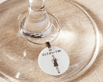 Real Housewives of New York City inspired Turtle Time Wine Charms - RHONY