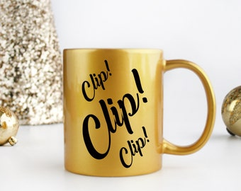 Real Housewives of New York City Dorinda inspired Clip! Clip! Clip! Coffee mug