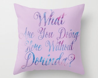 RHONY Real Housewives What Are You Doing Here Without Dorinda?  Throw Pillows - Watercolors