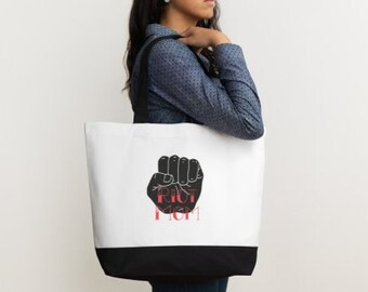 Riot Mom - Tote Bag - Cotton - Two Tone - Large