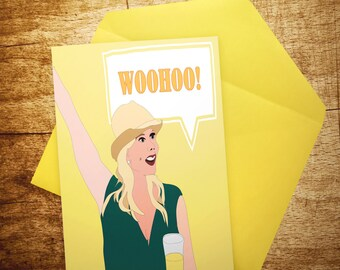 RHOC - Real Housewives of Orange County WOOHOO - Vicki - Birthday Card- Funny - Congrations - celebrate - customReal Housewives Cards