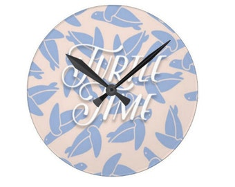 Real Housewives of New York inspired Wall Clock - It's Always - Turtle Time - Rhony