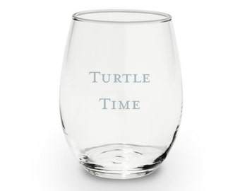 Turtle Time Wine Glasses - 15 fl oz - Rhony - Mother's Day Gift