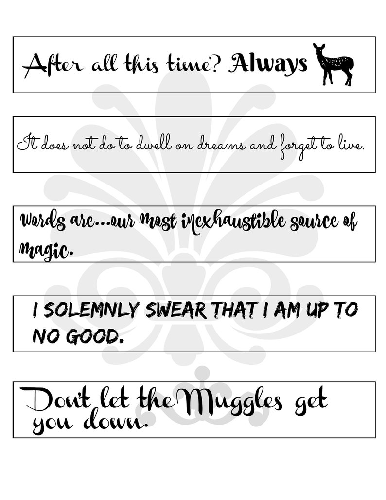picture about Harry Potter Bookmarks Printable named Harry Potter Inpsired Rates Bookmarks. Printable Electronic. JPEG. Reward for Guide Supporters People,Potterheads, Dumbledore Snape Constantly
