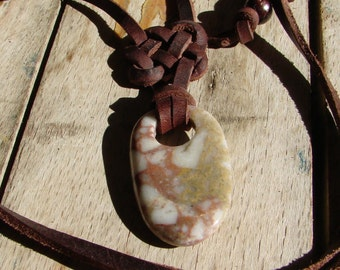 Beach touch stone necklace