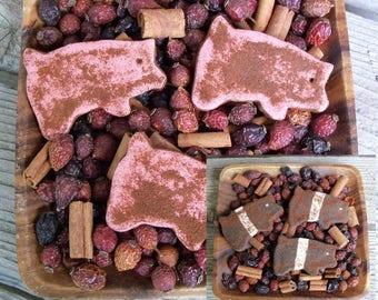 Rustic Country Saltdough Pigs, Primitive, Farmhouse Decor, Sow, Farm Animal, Barnyard Animal, Potpourri Addin, Bowl Filler