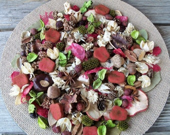 Apple Orchard Country Potpourri, Rustic, Room Scent, Spring Decor, Summer Decor, Apples, Refresher Oil Included