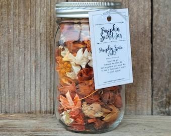 Fall Pumpkin Potpourri Sachet Jars