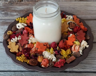 Autumn In The Country Artisan Potpourri with a Fall Fragrance Soy Candle