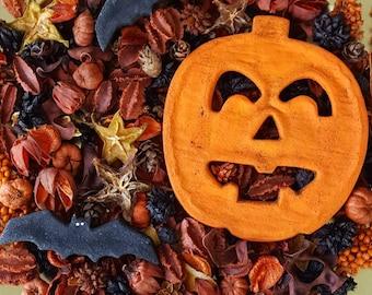 Jack O Lantern Halloween Artisan Potpourri
