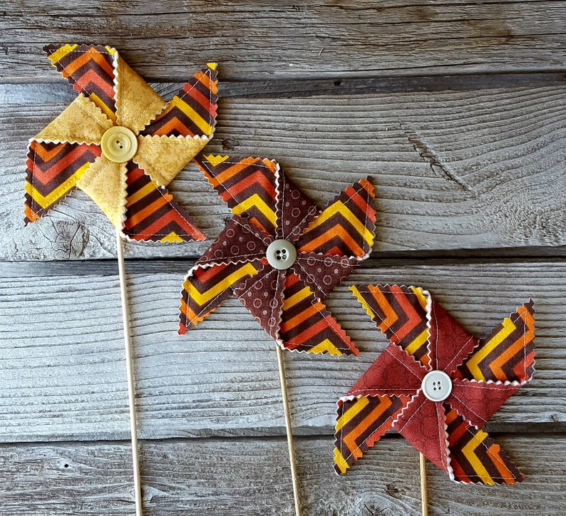 Autumn Harvest Pinwheel Decoration image 0