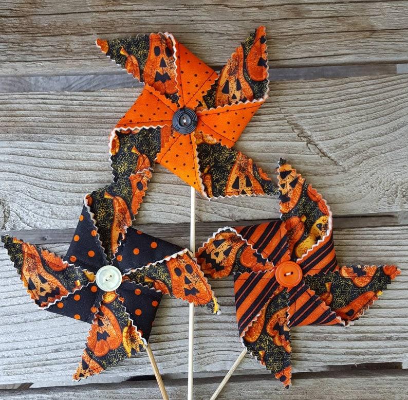 Halloween Pinwheel Party Decoration  Jack-O-Lanterns image 0