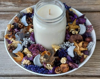 The Witching Hour Halloween Artisan Potpourri with Halloween Soy Candle