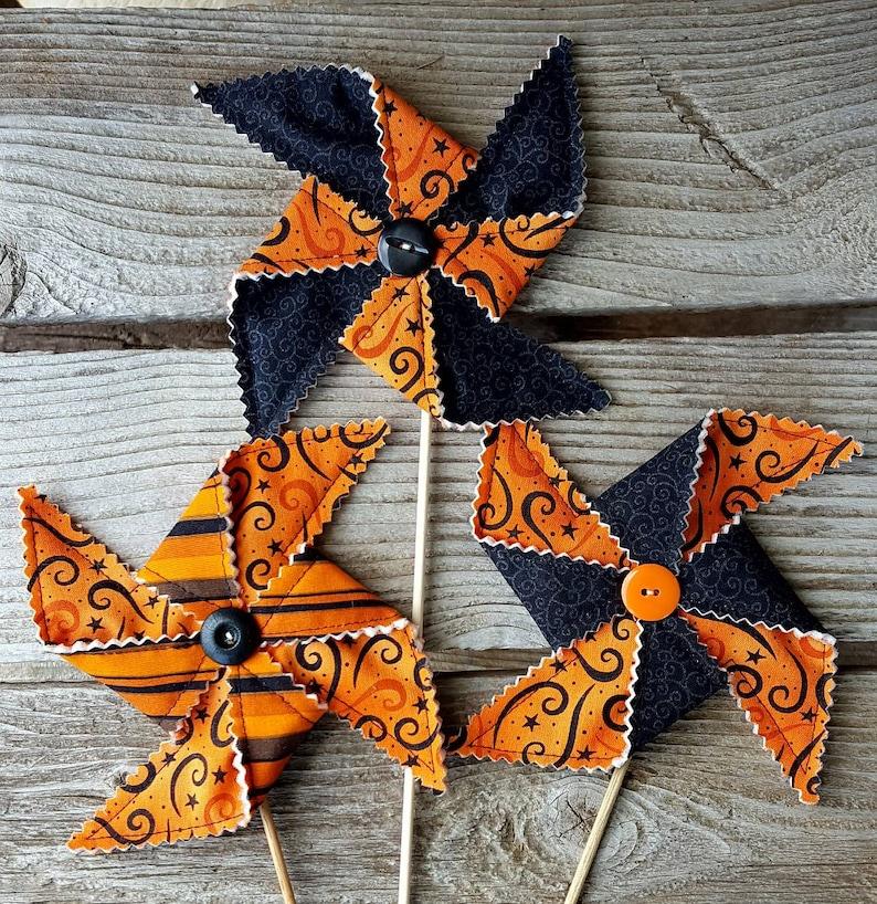 Halloween Pinwheel Party Decoration  Swirls image 0