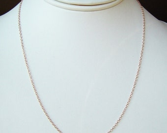 8ca6f57519606 Fine Rose Gold Chain Necklace . 14K Pink Gold fill . Choose 15 to 30 inches  . Layering Chain