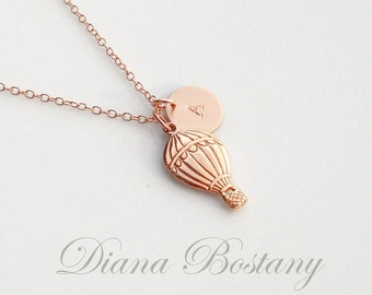 Jewelry & Accessories Necklaces & Pendants New Fashion Rose Gold Pendant Christmas Gift Air Balloon Necklace Cute And Sweet Sky Balloon Necklace For Birthday Jewelry Gift