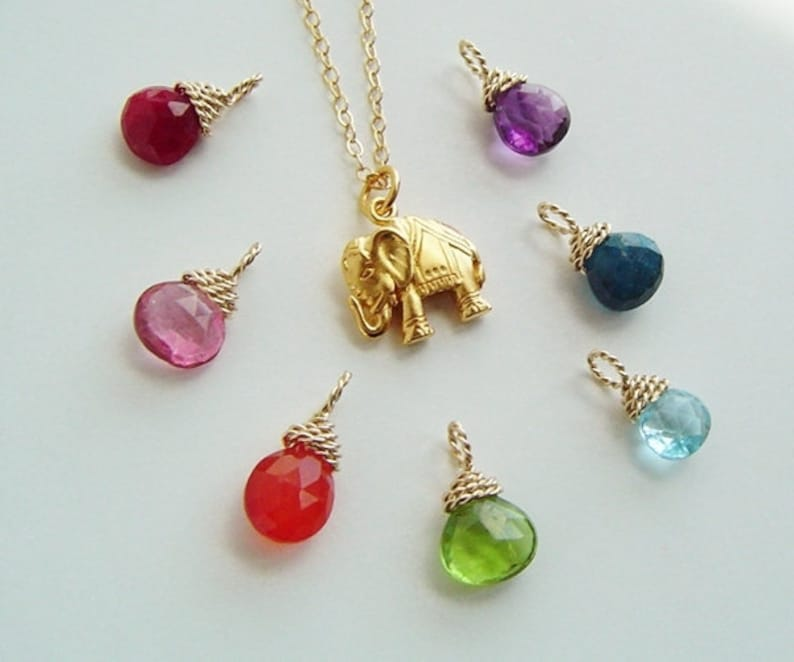 Gold Elephant Lucky Elephant Charm necklace 14K Gold filled Chain Charm Necklace Good Luck Jewelry Bridesmaids Gift Gift for her