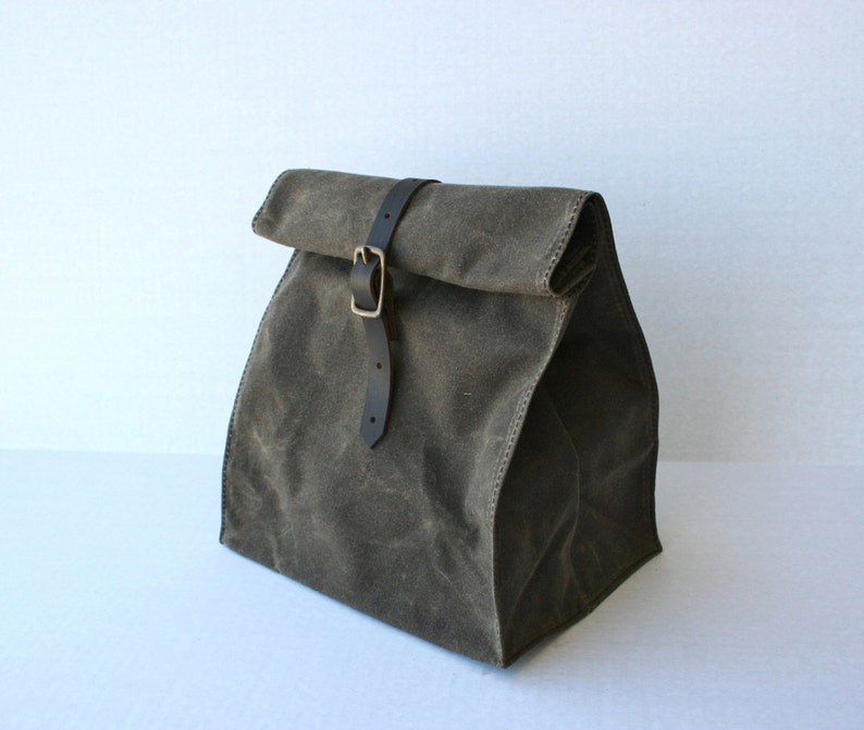 Waxed Canvas Lunch Bag image 0