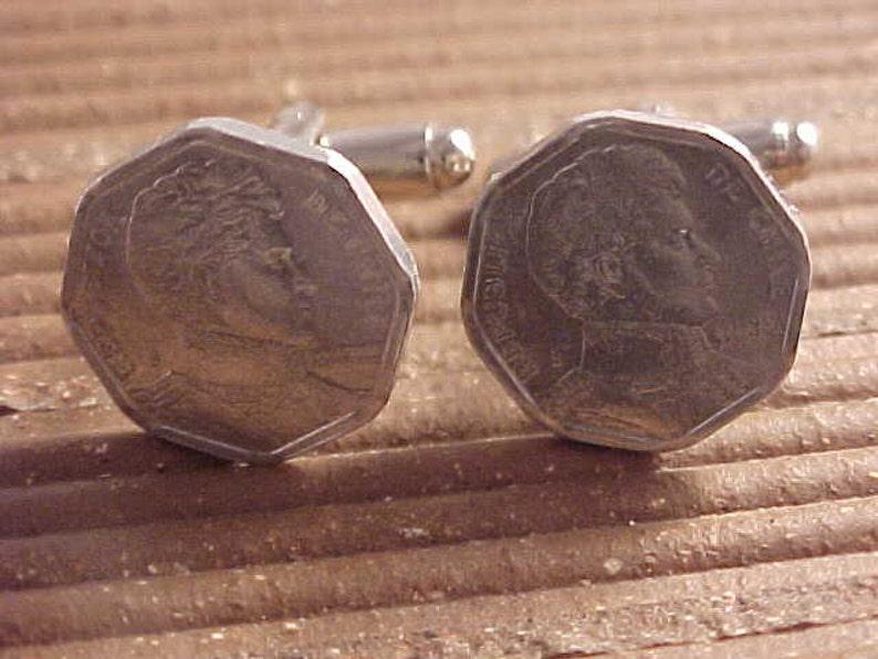 Chile Coin Cuff Links  Chile Coin Cufflinks  Real Coin Cufflinks  Chilean Coin Cuff Links  Chilean Coin Cufflinks