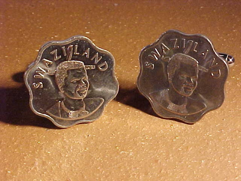 Swaziland Coin Cuff Links
