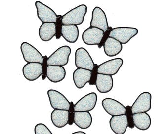 Butterfly Glitter Window Cling Set