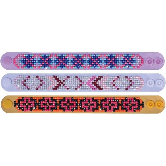 "Diamond Dotz Diamond Bracelets Facet Art Kit 1/""X9/""-Assorted Symbolic 3//Pkg"
