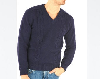 Pure 100% Extra Fine Wool  Sweater/Pullover for Men