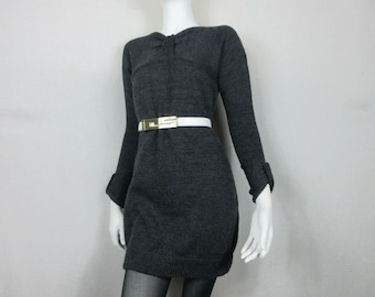 Handknit Wool/Mohair Sweater Dress - Size XS/S - Free Shipping in US