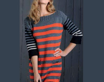 Knit 100 EF Wool Sweater Dress - Size XS/S/M - Free Shipping in US