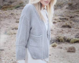 Pure Wool Knit  Jacket/Cardigan  - 100% EF Merino Wool