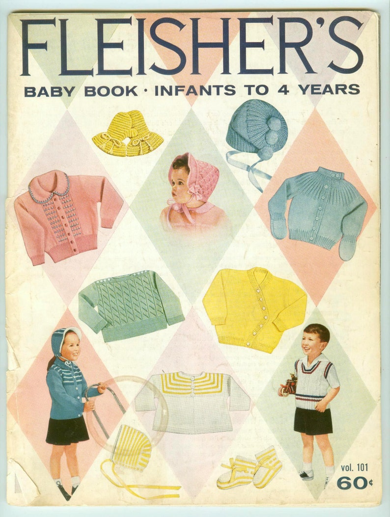 Vintage Fleisher's Baby Book Knit and Crochet Clothing for image 0