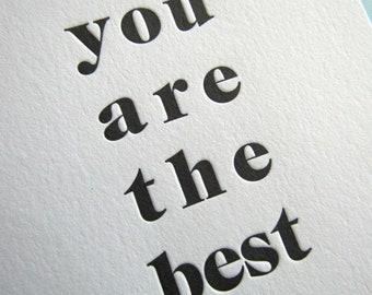 Letterpress Celebration Card, Best News Ever, Congratulations