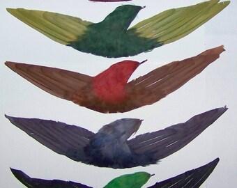 Vintage Hat Trim Feather Large Millinery Bird  #3582