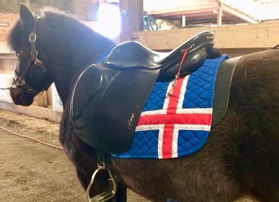 Icelandic Flag Saddle Pad Icey Horse English All Purpose Dressage Pad  Western Saddle Blanket WHOA TEAM