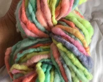 Handspun bulky yarn superfine merino art yarn 100 grams approximately 72 yards