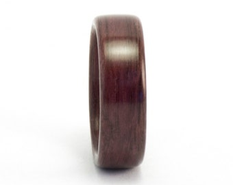 Size 9, Wooden Ring, Bentwood Ring, Purpleheart Wood Ring, Wood Wedding Band, Classic Wood Wedding Ring, Wooden Wedding Ring, Bentwood Band