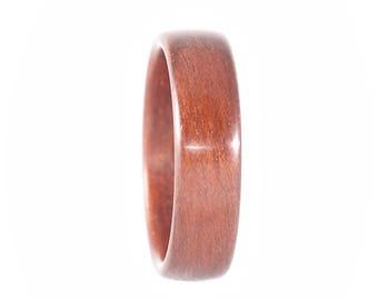 Size 10.5, Bloodwood Ring, Bentwood Ring, Wood Ring, Wood Wedding Band, Classic Wood Wedding Ring, Wooden Wedding Ring, Bentwood Band Wooden