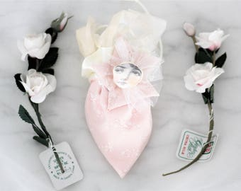 miss cherry blossom - a whimsical springtime Omiyage good luck doll pouch