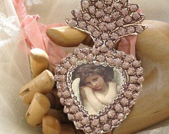 enchantment - a pink ex-voto paper locket
