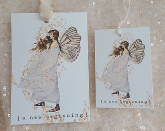 a new beginning fairy gift tag set