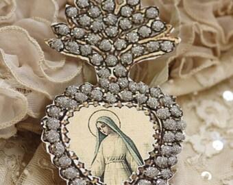 Beloved Mary - a paper ex-voto locket