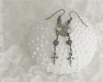 mermaid couture - ear adornments - blue sea moss - sale!