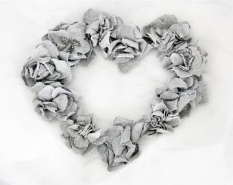 studio destash - An instant collection of shabby chic inspired gray cashmere petite flowers