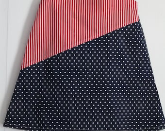 Dress, Americana Dress, 4th of July dress, Patriotic dress, Red White & Blue, Girls clothing, Toddler dress, Summer dress, Pinafore dress