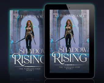 Premade Epic Fantasy Book Cover: Woman with a Sword